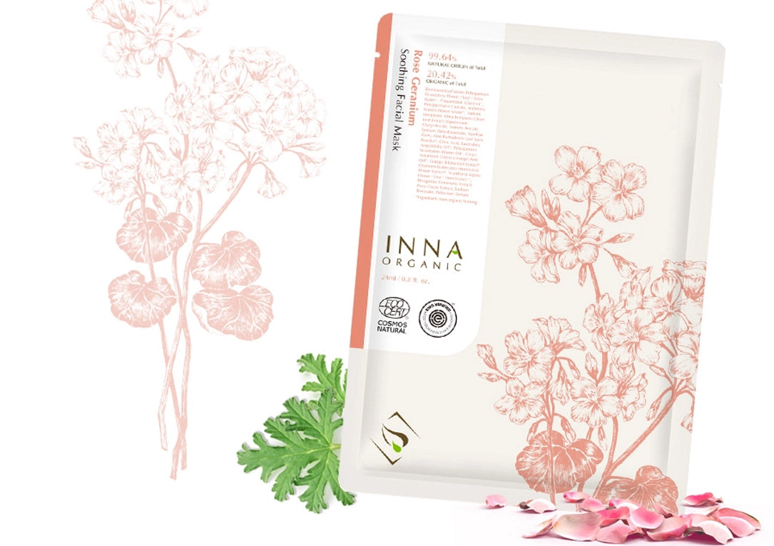 Rose Geranium Soothing Facial Mask side