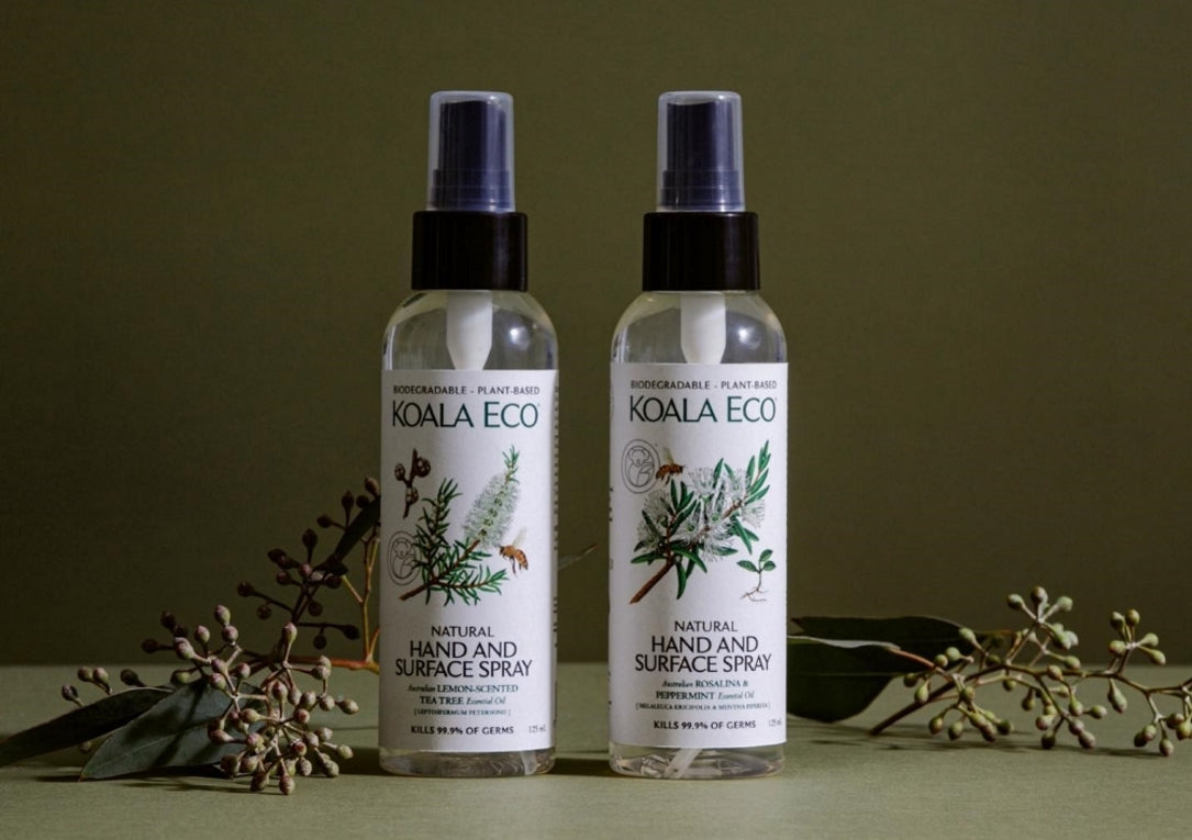 Natural Hand and Surface Spray - Rosalina and Peppermint side