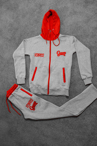 Grey/Red Jogging Suit