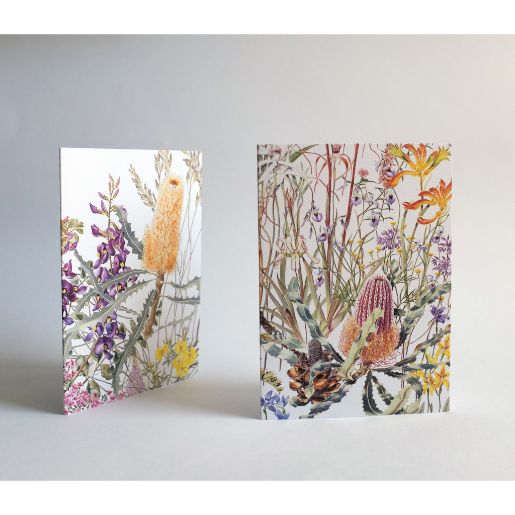 Australian Greeting Cards with Australian watercolour flora and fauna paintings by Philippa Nikulinsky