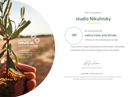 Certificate Carbon Neutral Tree Planting