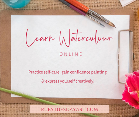 Learn Watercolour online with Ruby Tuesday Art