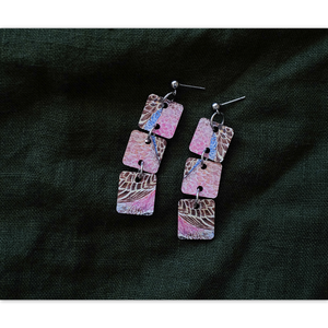 Open image in slideshow, Dangle Earring: Bourke's Parrot