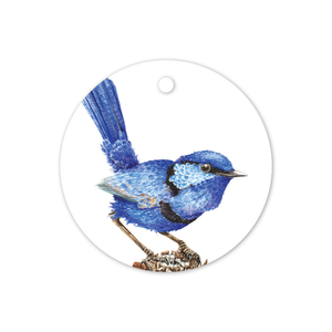 Open image in slideshow, Circle Gift Tag: Fairy Wren