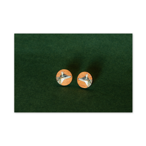 Open image in slideshow, Wood Stud Earrings: Numbat