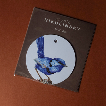Circle Gift Tag Pack: Fairy Wren