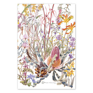 Open image in slideshow, Swan Coastal Plain Wildflowers Linen Tea Towel