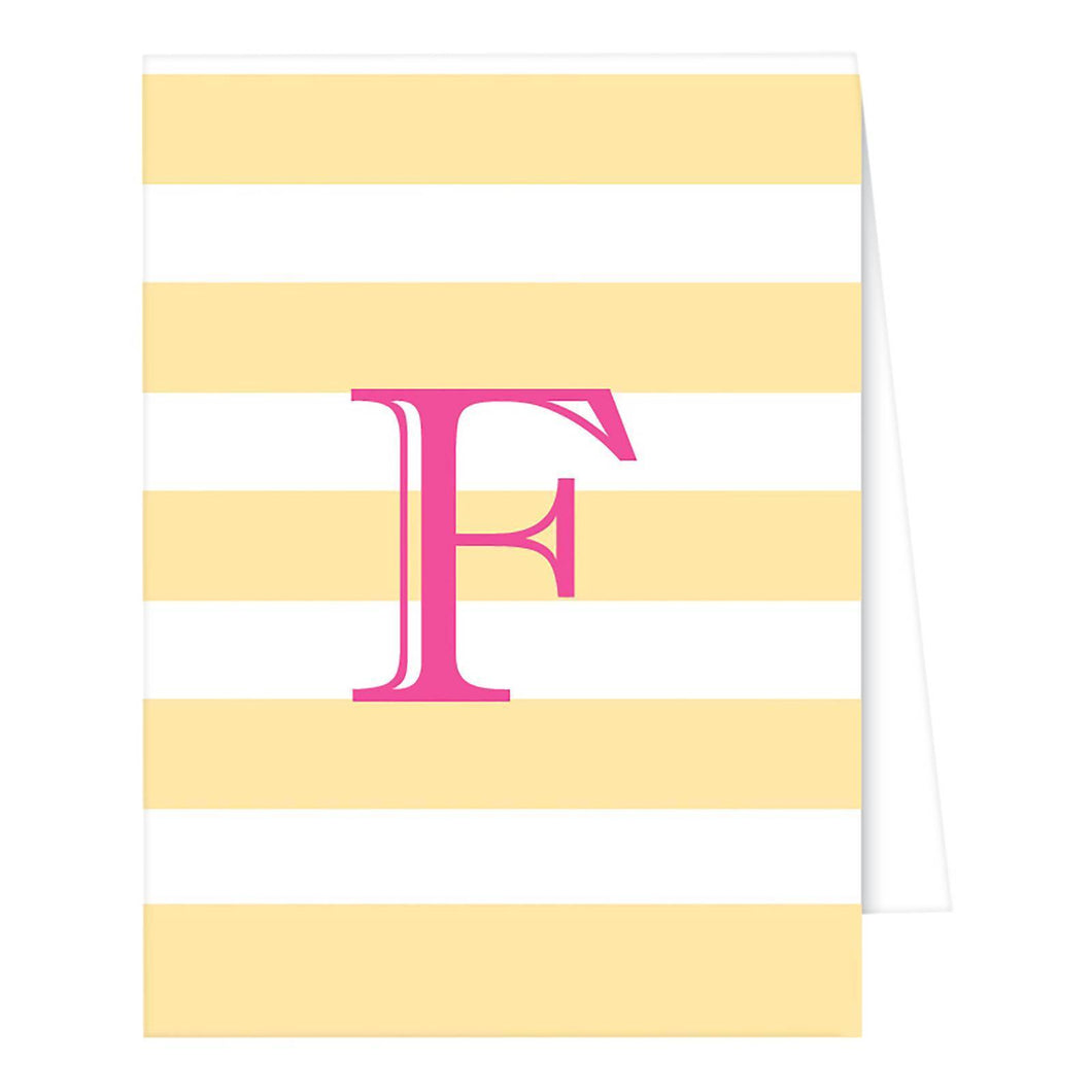 http://www.ebay.com/i/RosanneBECK-Collections-Pastel-Yellow-Note-Cards-Cabana-Stripe-Monogram-F-/282742112035