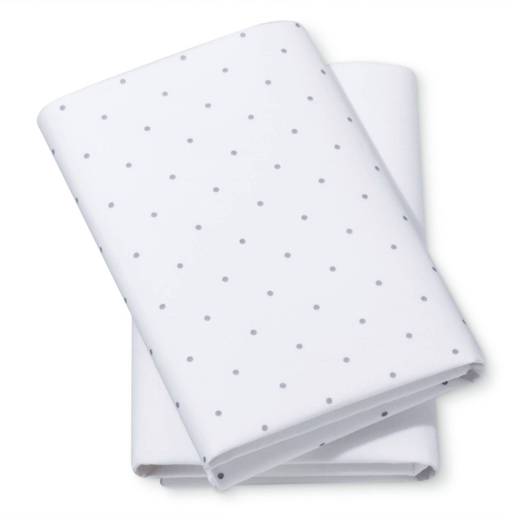 http://www.ebay.com/i/Fitted-Bassinet-Sheets-Dots-Solid-2pk-Cloud-Island-153-Gray-White-/272843156390