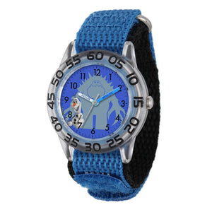 http://www.ebay.com/i/Disney-Frozen-Olaf-Plastic-Case-Blue-Nylon-Strap-Watch-/362154210130