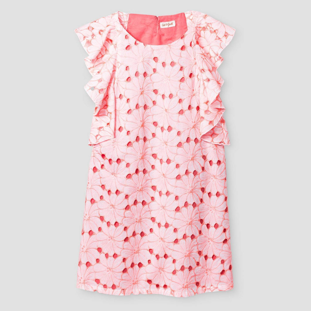 http://www.ebay.com/i/Girls-Floral-Eyelet-Shift-Dress-Cat-Jack-153-Coral-M-/302236948494