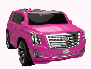 power wheels barbie cadillac escalade 12 volt ride on hot pink dealsform com power wheels barbie cadillac escalade