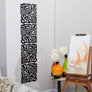 http://www.ebay.com/i/African-Bloom-Decorative-Panel-Set-4-16W-x-16H-in-each-Black-/222802958879