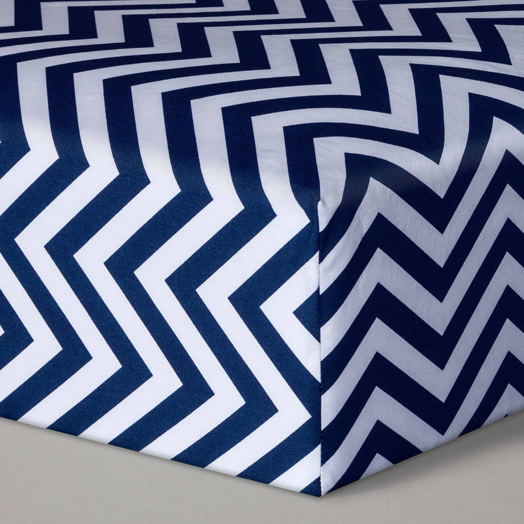 http://www.ebay.com/i/Fitted-Crib-Sheet-Chevron-Navy-Cloud-Island-153-/302449033313