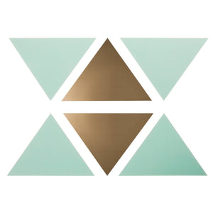 http://www.ebay.com/i/Wall-Decal-Triangles-16pc-Cloud-Island-153-Mint-Gold-/272843159869