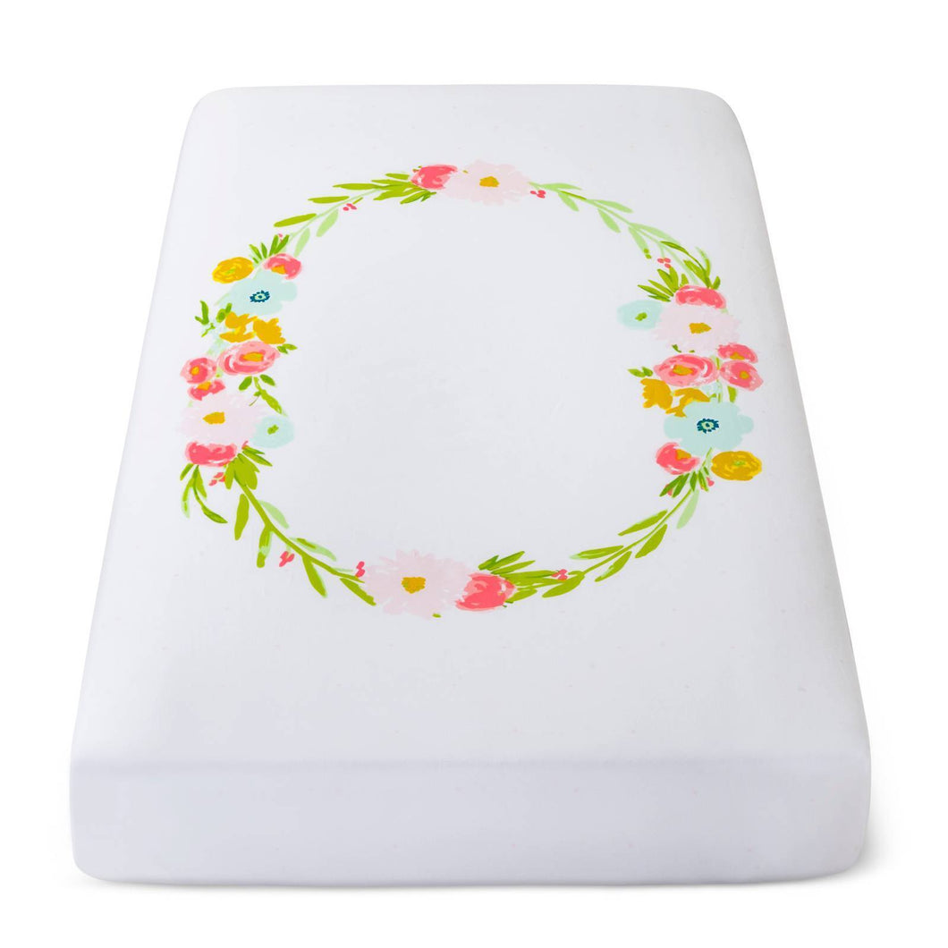 http://www.ebay.com/i/Fitted-Crib-Sheet-Floral-Wreath-Cloud-Island-153-White-/302449033116