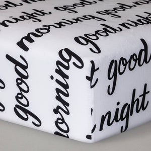 http://www.ebay.com/i/Fitted-Crib-Sheet-Good-Morning-Good-Night-Cloud-Island-153-Black-White-/272843157929