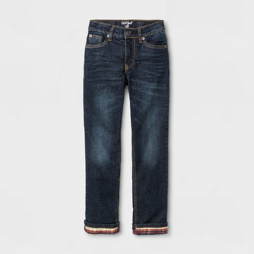 http://www.ebay.com/i/Boys-Flannel-Lined-Denim-Jeans-Cat-Jack-153-Medium-Blue-6-/282742718681