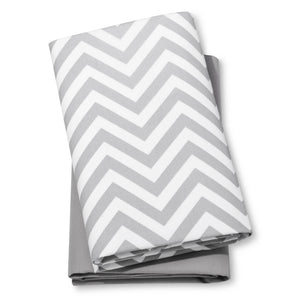 http://www.ebay.com/i/Fitted-Playard-Sheets-Chevron-Solid-2pk-Cloud-Island-153-Gray-White-/302449033448