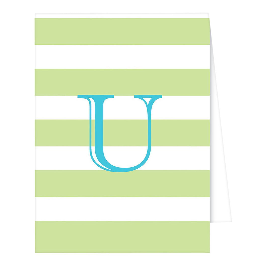 http://www.ebay.com/i/RosanneBECK-Collections-Light-Green-Note-Cards-Cabana-Stripe-Monogram-U-/272947428937