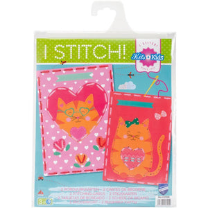 http://www.ebay.com/i/Vervaco-Stitch-Kids-4-Kids-Cats-Hearts-Embroidery-Cards-Kit-/362154302432
