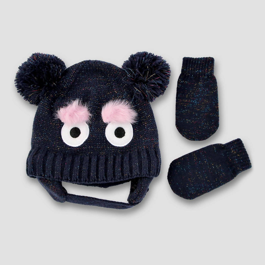 http://www.ebay.com/i/Toddler-Double-Pom-Beanie-Lurex-and-Mitten-Set-Cat-Jack-153-Monste-/272848591803