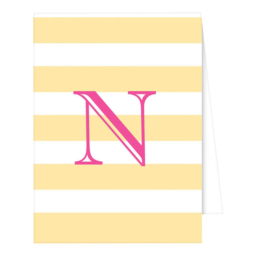 http://www.ebay.com/i/RosanneBECK-Collections-Pastel-Yellow-Note-Cards-Cabana-Stripe-Monogram-N-/282742112143