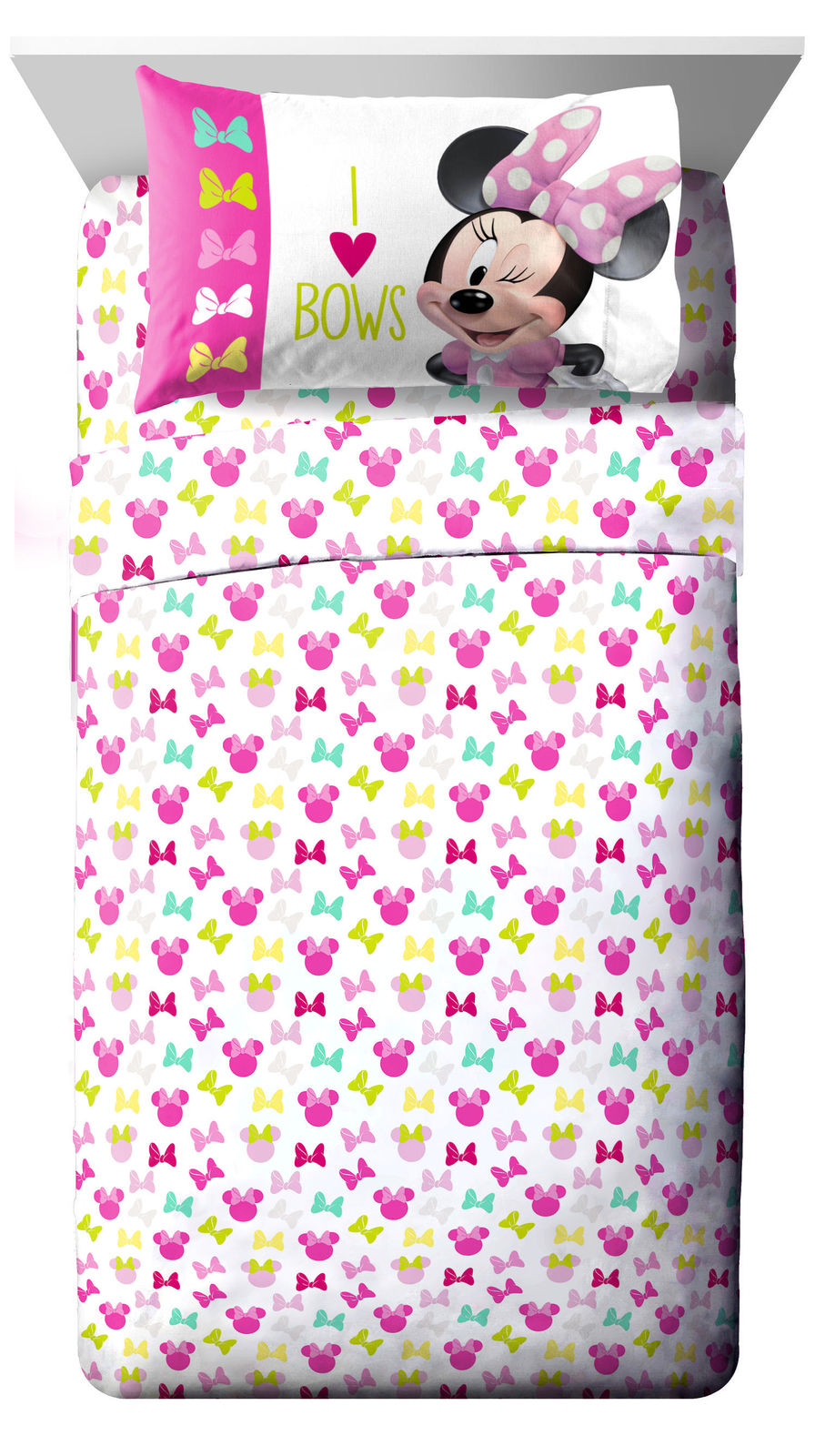 http://www.ebay.com/i/Disney-Minnie-Bowtique-3-Piece-Twin-Sheet-Set-Heart-Bows-/172888805501