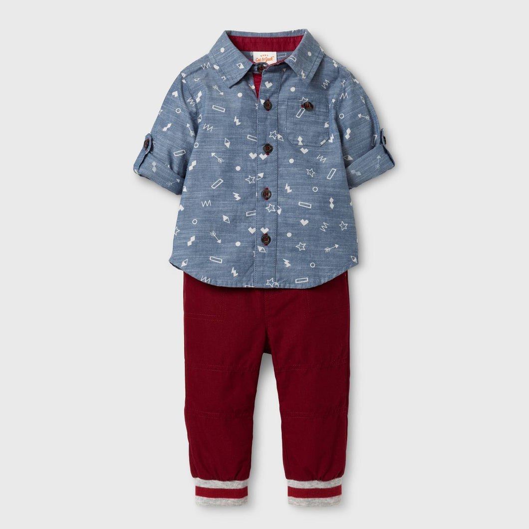 http://www.ebay.com/i/Baby-Boys-Button-Down-Shirt-and-Denim-Pants-Set-Cat-Jack-153-Blue-Maro-/272947075793