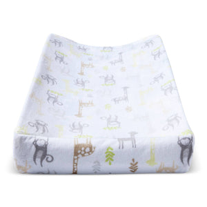 http://www.ebay.com/i/Plush-Changing-Pad-Cover-Monkeys-Giraffes-Cloud-Island-153-Yellow-/282515830980