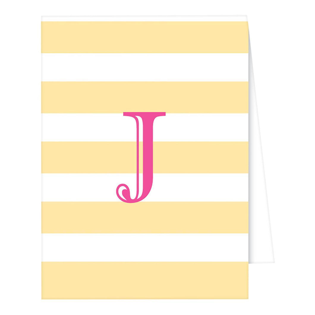 http://www.ebay.com/i/RosanneBECK-Collections-Pastel-Yellow-Note-Cards-Cabana-Stripe-Monogram-J-/282742112186