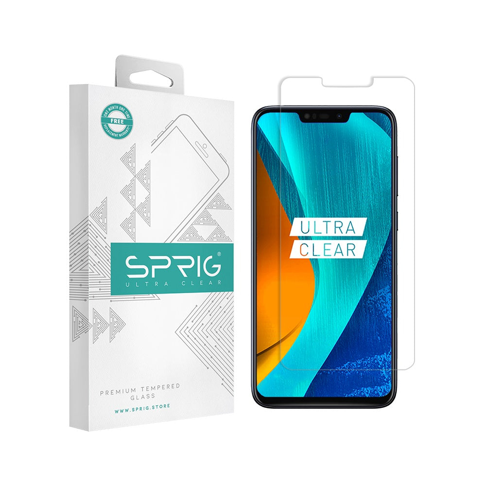 Sprig Transparent Tempered Glass/Screen Protector for Asus Zenfone Max M2 - Sprig