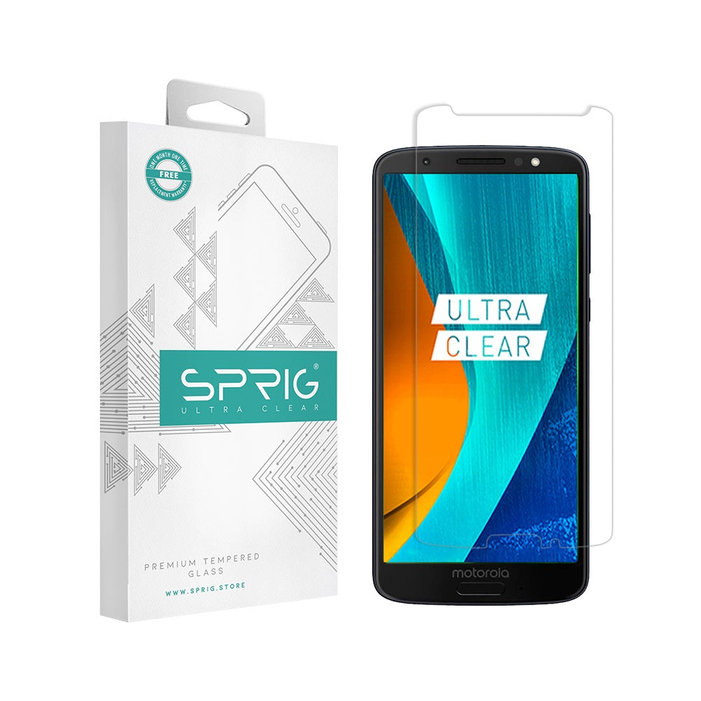 Moto G6 Tempered Glass Transparent at Sprig.store - Sprig