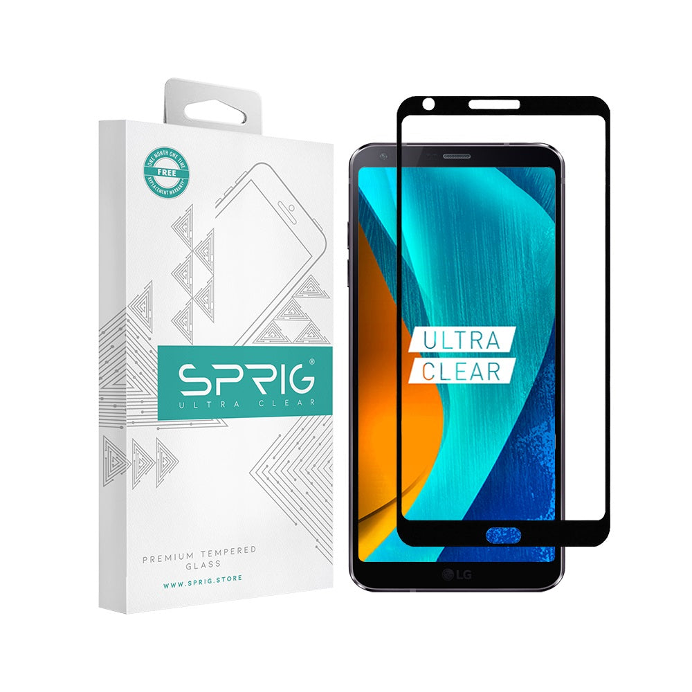 Sprig Full Screen Tempered Glass/Screen Protector for LG G6 - Sprig