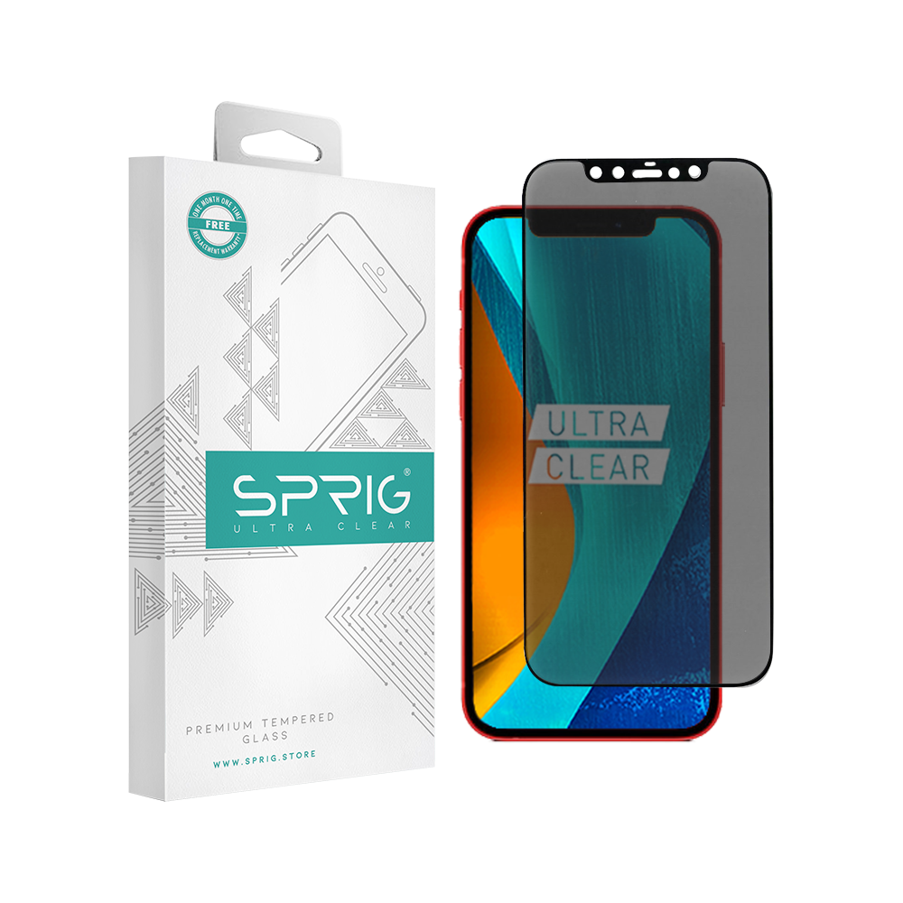 Sprig Full Screen Hot Bending Anti-Spy Tempered Glass/Screen Protector for Samsung S9 (Black) - Sprig