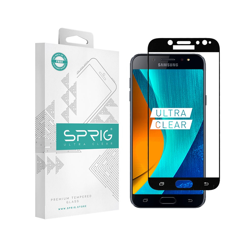 Sprig Full Screen Tempered Glass/Screen Protector for Samsung Galaxy J7 Plus - Sprig