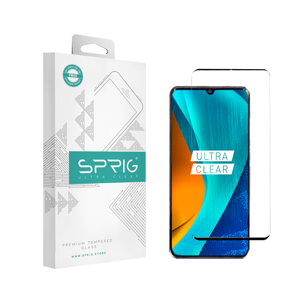 Sprig Full Cover Tempered Glass/Screen Protector for Mi Redmi Note 10 (Black) - Sprig