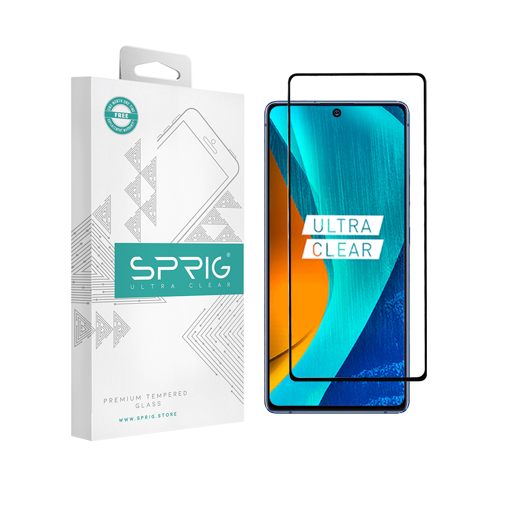 Sprig Full Screen Hot Bending Tempered Glass/Screen Protector for Samsung Galaxy Note 10 Lite (Black) - Sprig