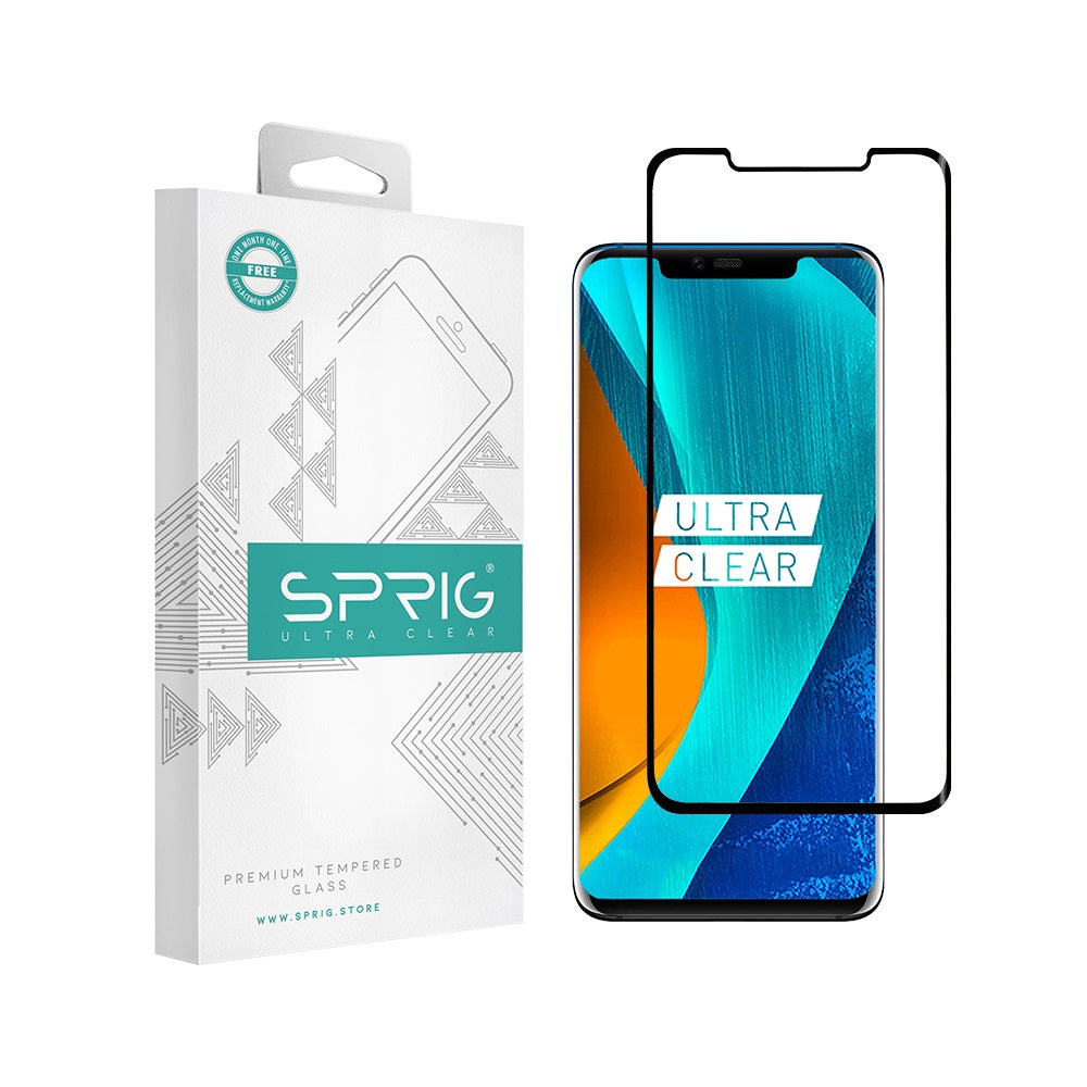 Sprig Full Screen Tempered Glass/Screen Protector for  Huawei Mate 20 Pro - Sprig