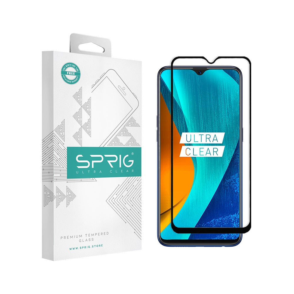 Sprig Full Screen Tempered Glass/Screen Protector for Oppo F9 Pro