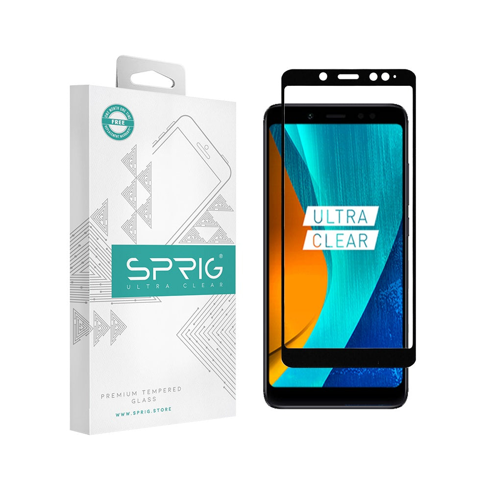 Sprig Full Cover Tempered Glass/Screen Protector for Mi Redmi Note 5 pro - Sprig