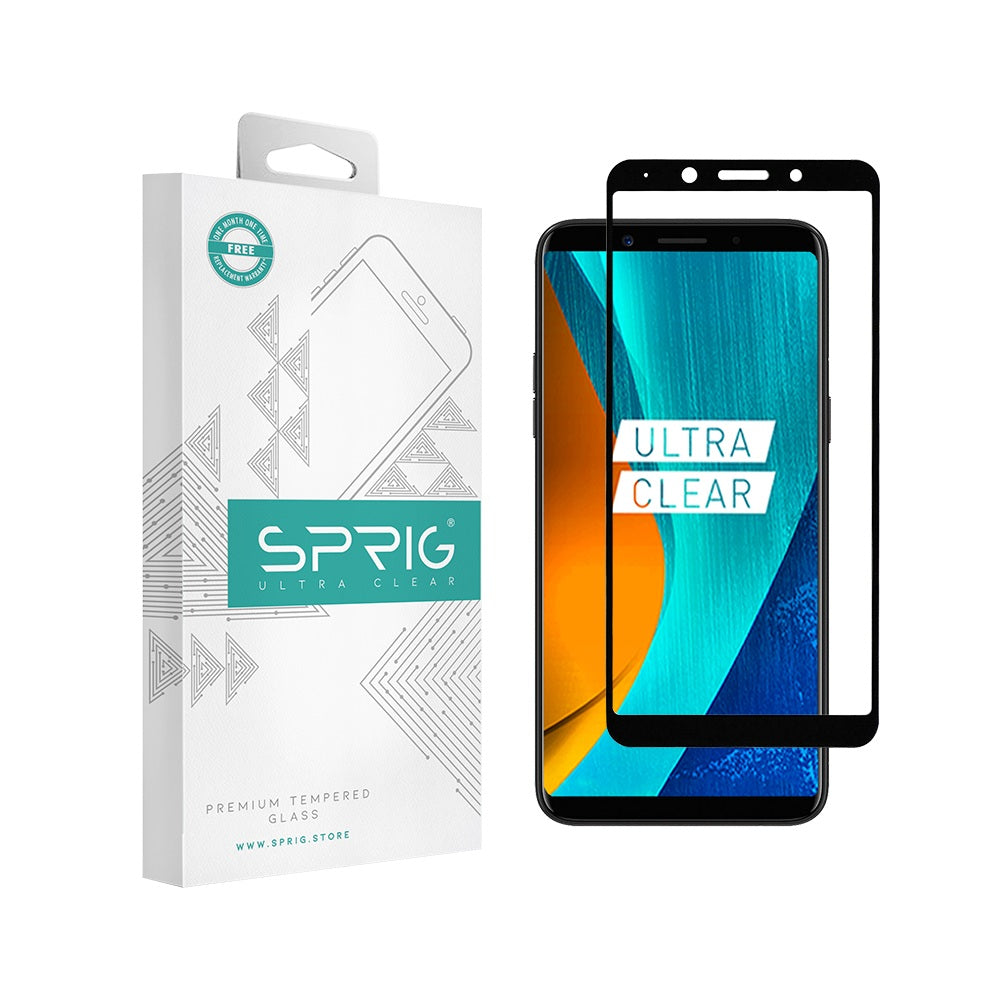 Sprig Full Screen Tempered Glass /Screen Guard for Oppo A73/F5 Youth - Sprig
