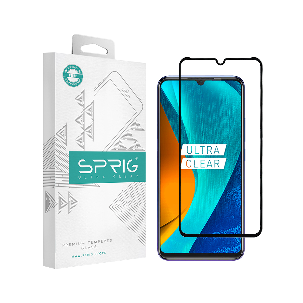 Sprig's Vivo Z1X Full Cover Tempered Glass (Black) - Sprig