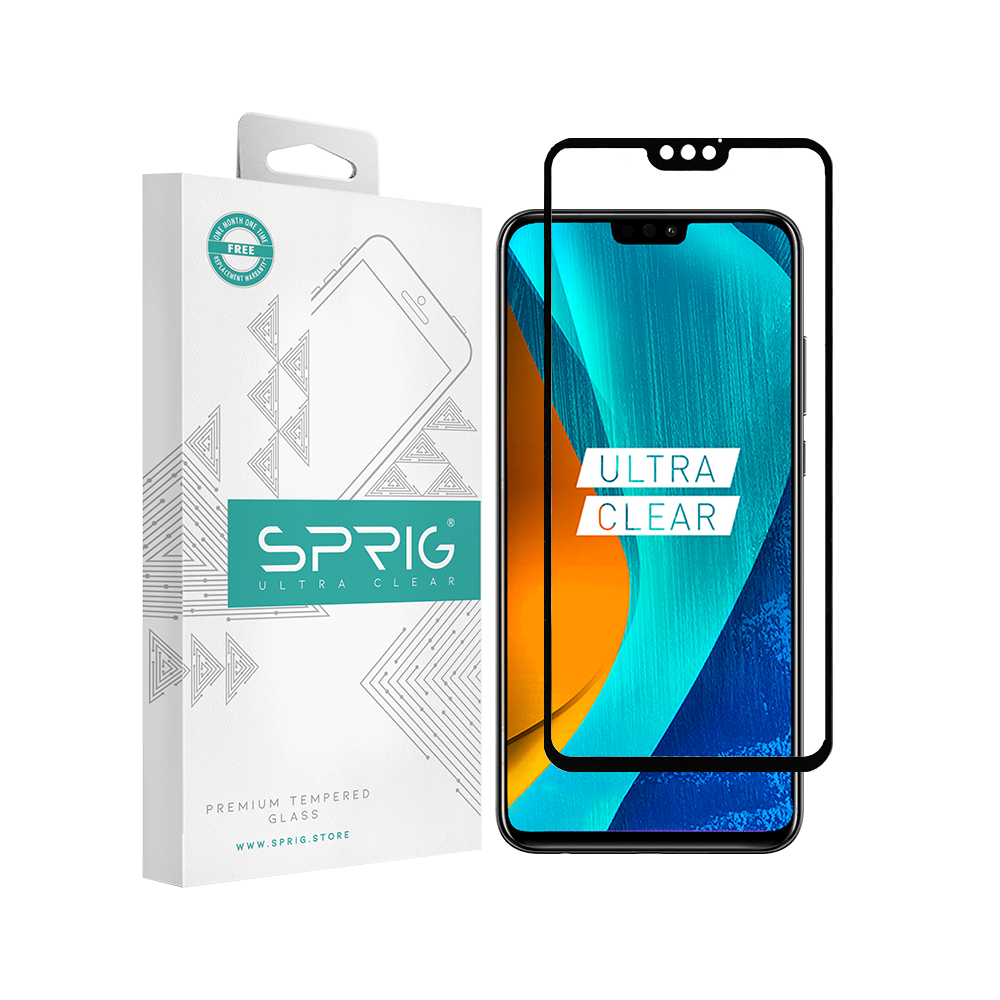 Sprig Full Screen Double Tempered Glass/ Screen Protector for Honor 8x - Sprig