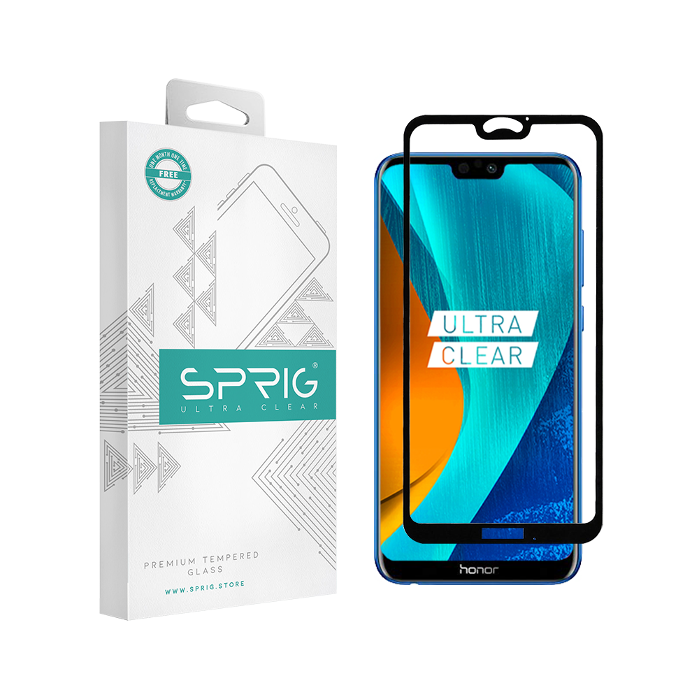 Sprig  Full Screen Tempered Glass/Screen Protector for Honor 9N - Sprig