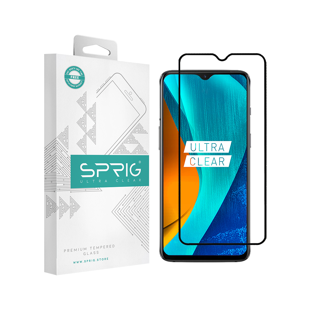 SPRIG Full Cover Tempered Glass Screen Protector for Oneplus 7