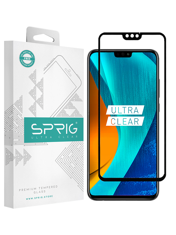 Huawei Honor 8X Silk Screen Ultra Clear Double Tempered Glass (Black) - Sprig