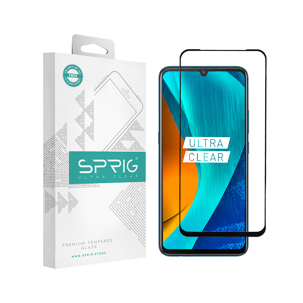 Sprig 5D Full Cover Tempered Glass/Screen Guard for Vivo S1 (Black) - Sprig