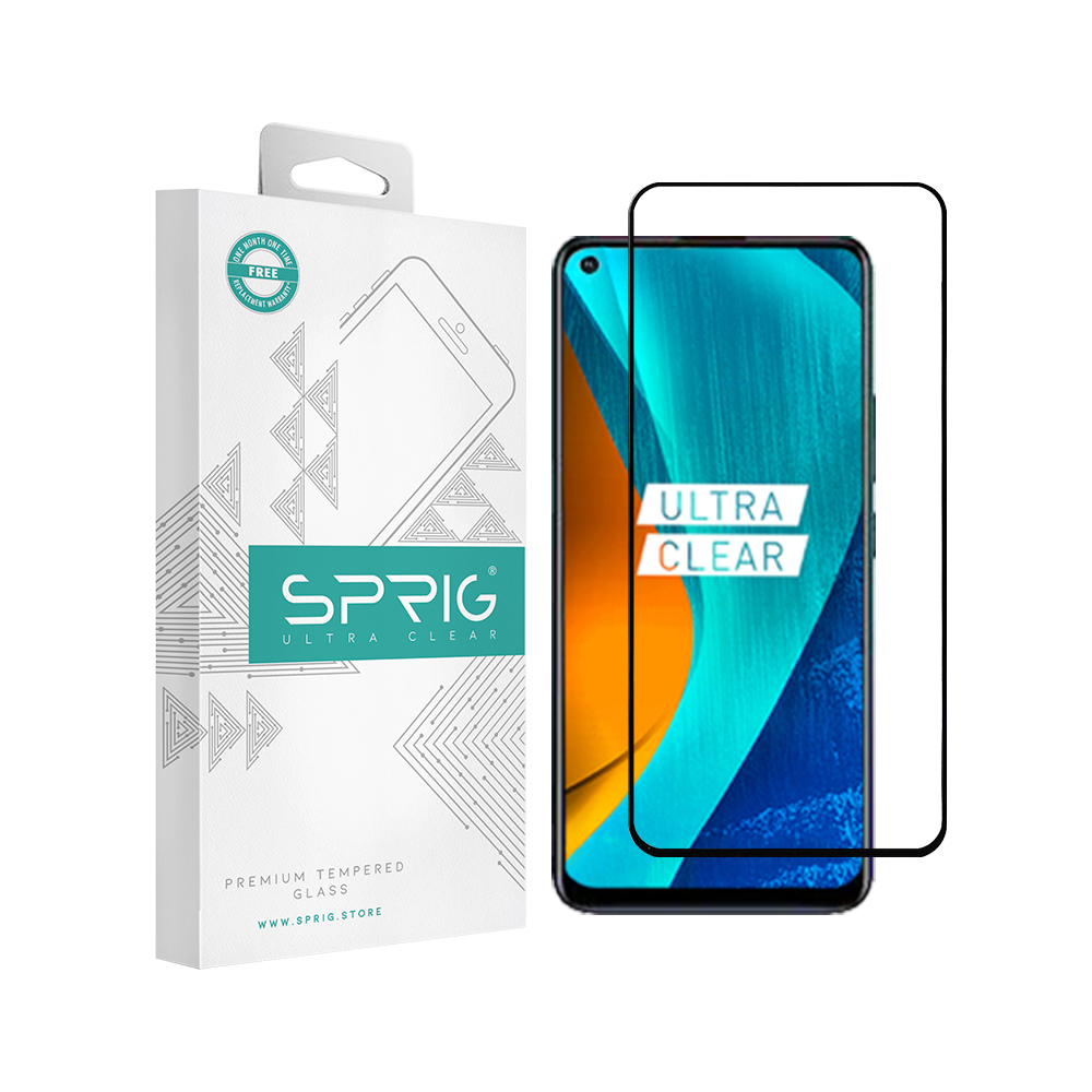 Sprig 5D Full Cover Tempered Glass/Screen Guard for Vivo Z1 Pro - Sprig