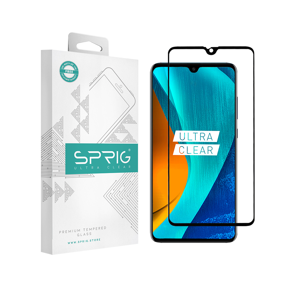 Sprig Full Screen Tempered Glass/Screen Protector for Huawei Mate 20 - Sprig